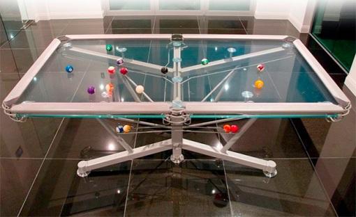 Mesa de sinuca de vidro 001