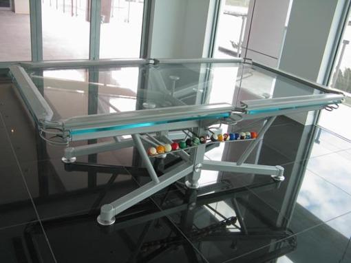 Mesa de sinuca de vidro 002