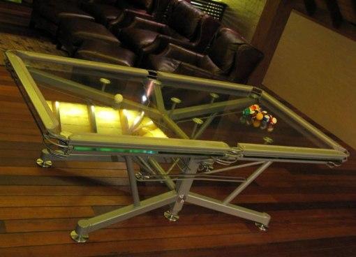 Mesa de sinuca de vidro 003