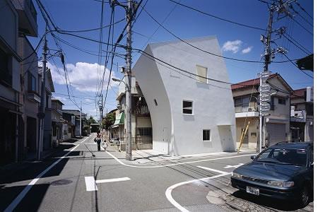 Arquitetura de casa mosaico com estilo minimalista Japão 001