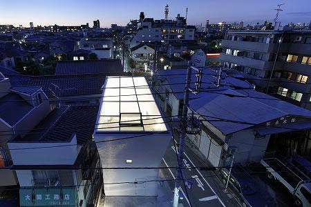 Arquitetura de casa mosaico com estilo minimalista Japão 002