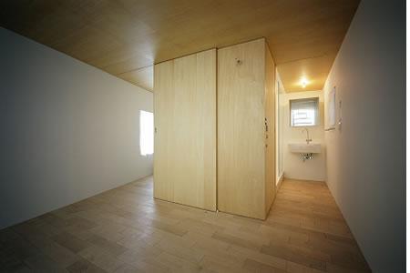 Arquitetura de casa mosaico com estilo minimalista Japão 006