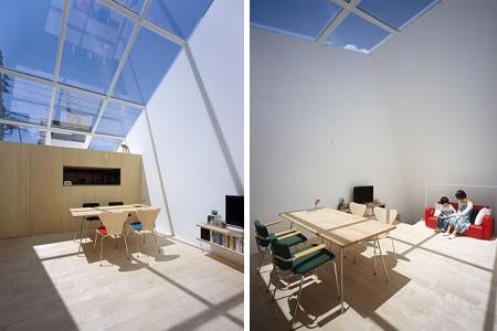 Arquitetura de casa mosaico com estilo minimalista Japão 008.1