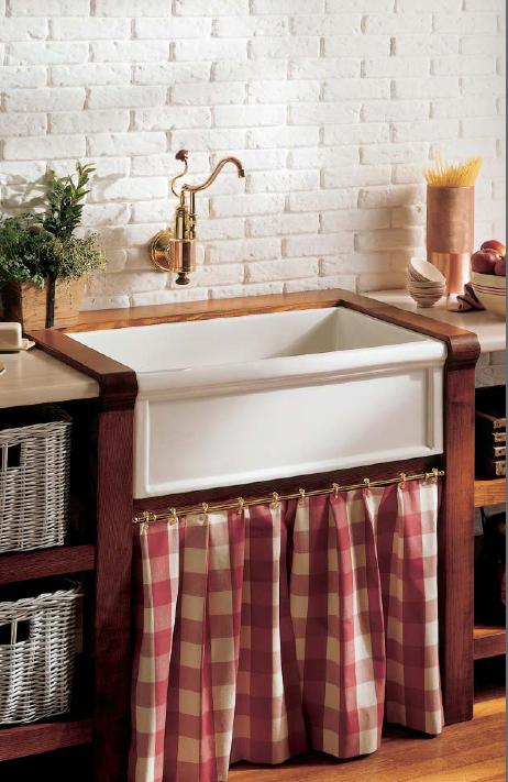 Cubas para decoração da cozinha no estilo classico 003