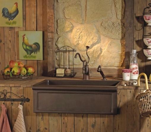 Cubas para decoração da cozinha no estilo classico 005
