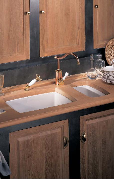 Cubas para decoração da cozinha no estilo classico 006