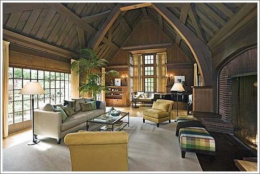 decoração sala de estar casa de campo