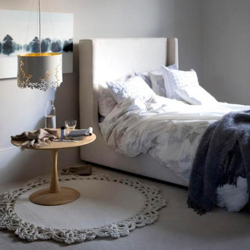 dicas de decoracao de interiores pequenos:Hanging Lamp for Bedroom Design