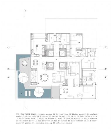 Projetos de Arquitetura Residentional Tower 012