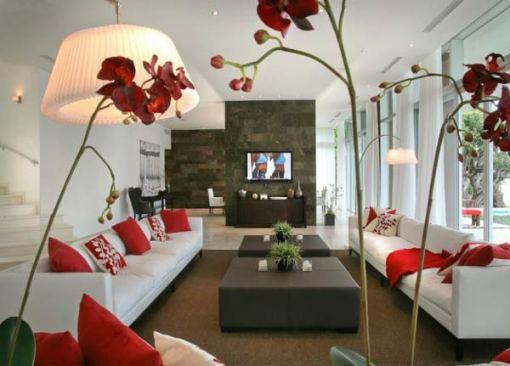 Arquitetura e Decoração de casa em Miami - decoracao sala de estar 3