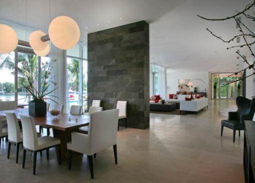 Arquitetura e Decoração de casa em Miami - dica de decoracao sala de estar e jantar