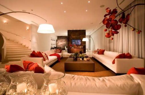 Arquitetura e Decoração de casa em Miami - decoracao sala de estar