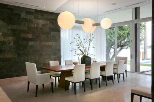 Arquitetura e Decoração de casa em Miami - dica de decoracao sala de jantar