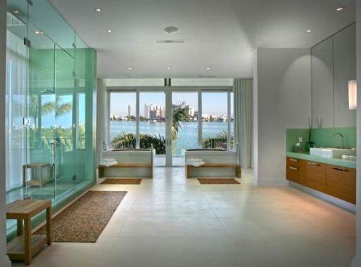 Arquitetura e Decoração de casa em Miami - dica de decoracao de banheiro