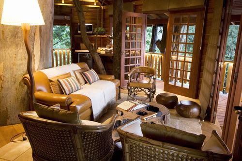 Arquitetura e decoração de casa na árvore - Casa sobre árvores de eucaliptos 008