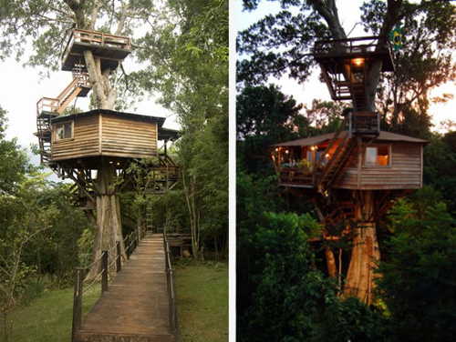Arquitetura e decoração de casa na árvore - Casa sobre árvores de Figueira Centenária 012