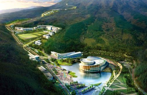 Arte, decoração, cultura e arquitetura de centro de treinamento na Corea 001