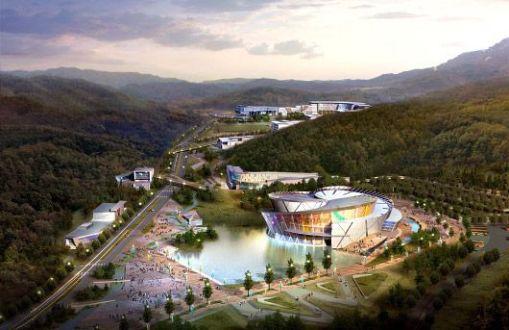 Arte, decoração, cultura e arquitetura de centro de treinamento na Corea 002