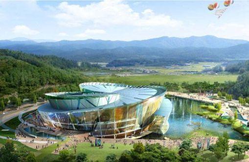 Arte, decoração, cultura e arquitetura de centro de treinamento na Corea 003