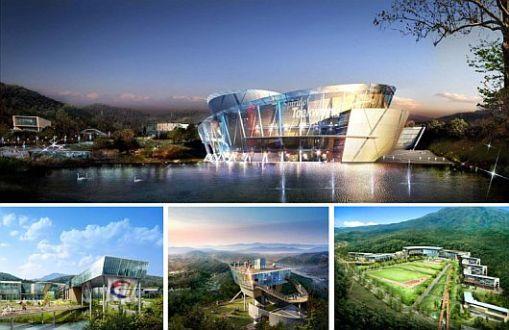 Arte, decoração, cultura e arquitetura de centro de treinamento na Corea 004