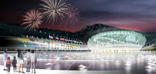 Arte, decoração, cultura e arquitetura de centro de treinamento na Corea 008