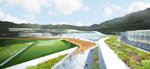 Arte, decoração, cultura e arquitetura de centro de treinamento na Corea 011