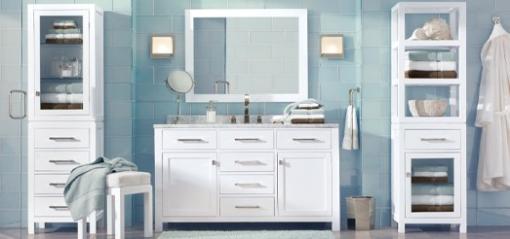 Decoracao de casa - dicas de decoração de banheiro com azul e branco 2