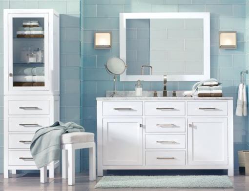 Decoracao de casa - dicas de decoração de banheiro com azul e branco