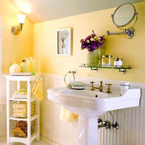 Dica de decoração de banheiro no sotão com cuba e misturadores clássicos