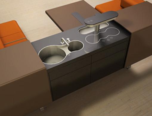 Dica de decoração de cozinha e sala de estar moderna 003