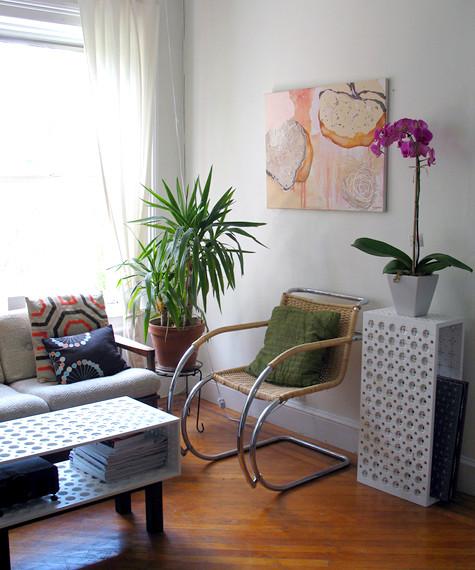 Dica de decoração de Sala de estar com vaso de flores 001