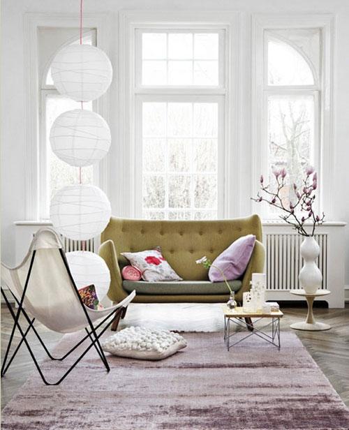 Dica de decoração de Sala de estar com vaso de flores - Branco