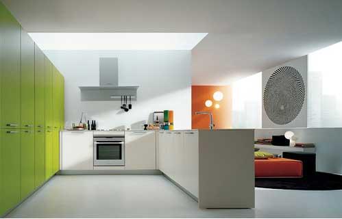 Dica de decoração para cozinhas modernas com mbiliário verde