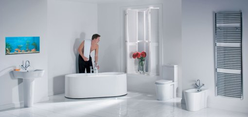 Dicas de decoracao de banheiro com banheira moderna 8