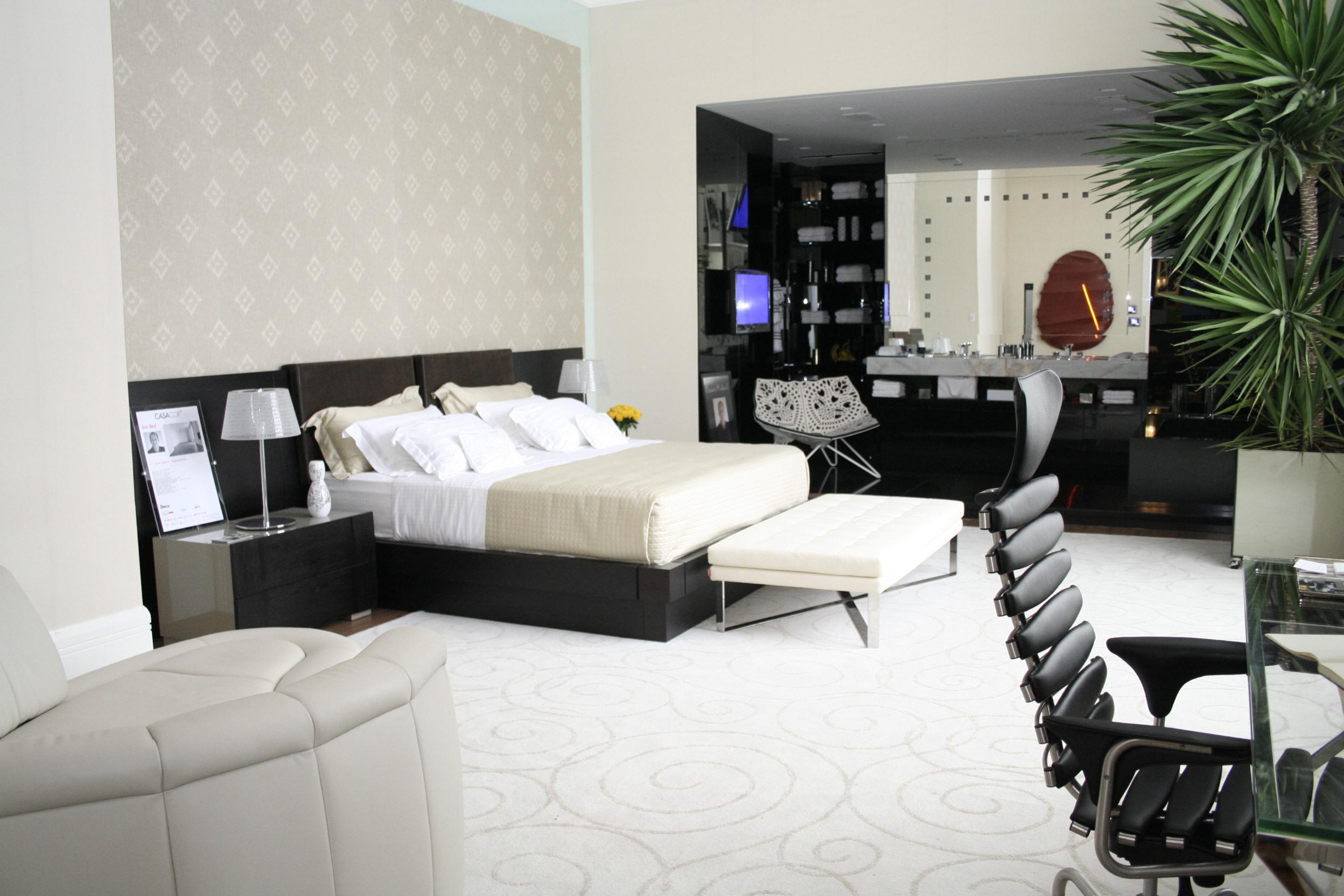 fotos decoracao de interiores de apartamentos : fotos decoracao de interiores de apartamentos:dicas-de-decoracao-de-quarto-casa-cor-2009-suite-master-apartamento
