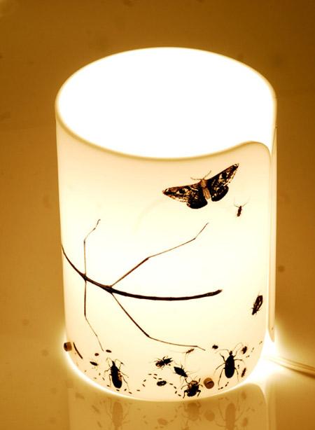 Peças de decoração e design por Joana Angert - Luminária Borboleta