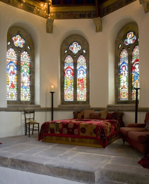 Arquitetura e decoração de casa em igreja - decoração quarto Casal