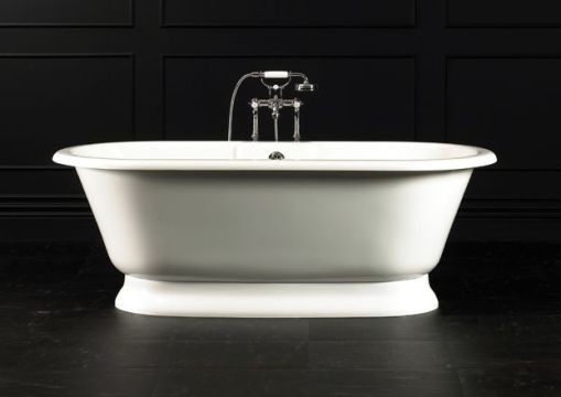Decoração de Banheiro - Banheiro com banheira Vitoriana York Doka Bath Works preto