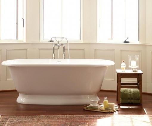 Decoração de Banheiro - Banheiro com banheira Vitoriana York Doka Bath Works
