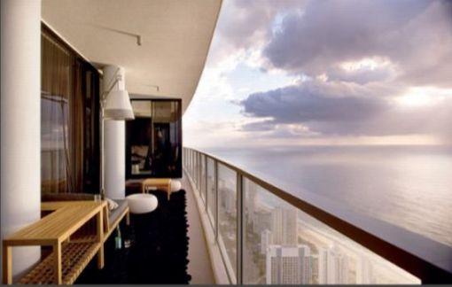 Dica de decoração - Arquiterura e decoração de casa na Gold Coast - Apartamento de a beira do mar - decoração da sacada