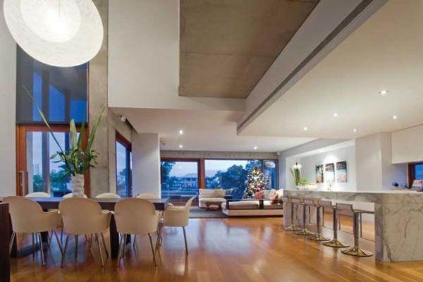 Dica de decoracao para casa - Arquitetura e decoração da sala de  estar, cozinha e sala de jantar
