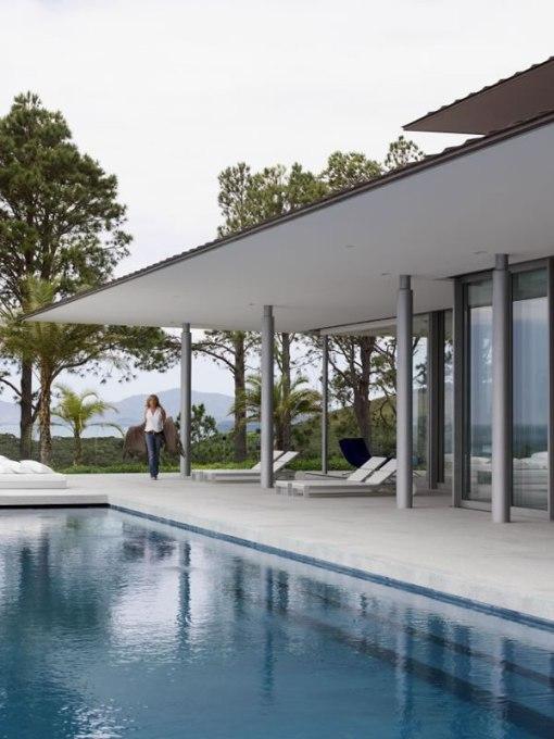 Arquitetura de casa na nova zelandia - dica de decoração de area externa - piscina