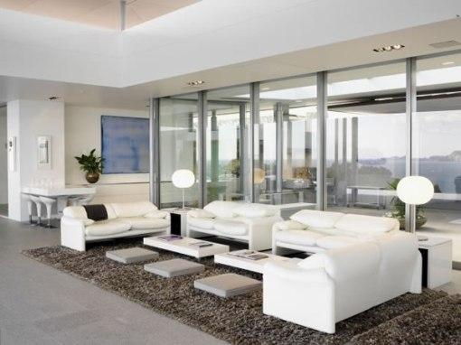 Arquitetura de casa na nova zelandia - dica de decoração para sala de estar