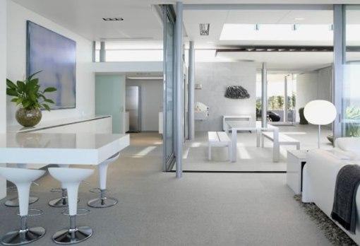 Arquitetura de casa na nova zelandia - dica de decoração para sala de jantar e bar