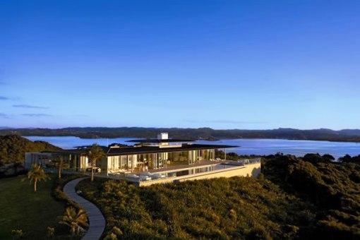 Arquitetura de casa na nova zelandia - fim de tarde