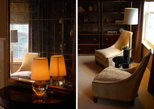 Dica de decoração de quarto de casal - Abajur sobre criado mudo cópia e poltrona de leitura