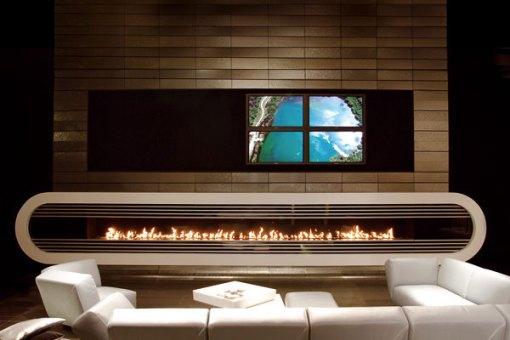 Dica de decoração de sala com lareira moderna