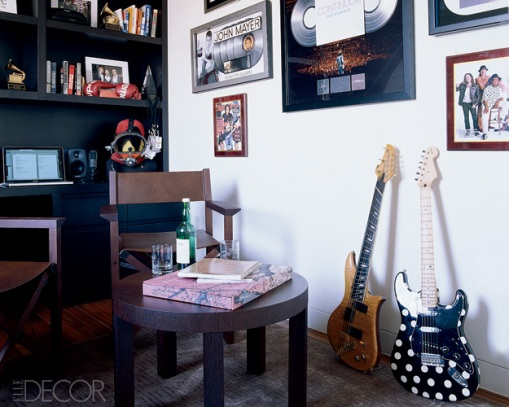 Dica de decoração - Decoração do escritório do John Mayer