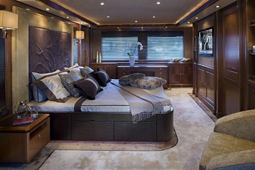 dica de decoração de interior de yacht - decoração de quarto de casal