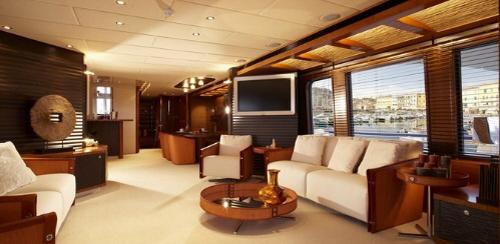 dica de decoração de interior de yacht - decoracao de sala de estar
